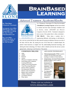 BRAiNBAsED LEARNiNG - Slone Chiropractic