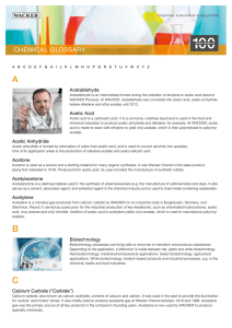 Chemical Glossary - Wacker Chemie AG