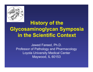 History of the Glycosaminoglycan Symposia in the Scientific Context