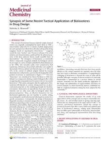 Synopsis of Some Recent Tactical Application of Bioisosteres in