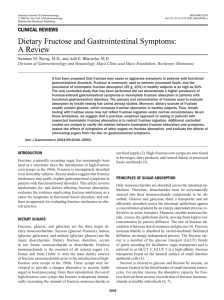 Dietary Fructose and Gastrointestinal Symptoms: A Review