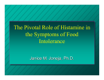 Histamine And Food Intolerance
