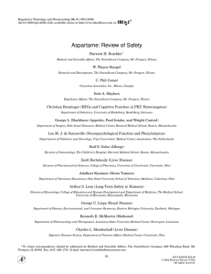 Aspartame: Review of Safety