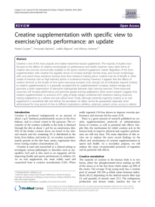 Creatine supplementation with specific view to exercise/sports