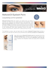 RefectoCil Eyelash Perm