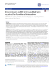 Determinants in HIV-2 Env and tetherin required for