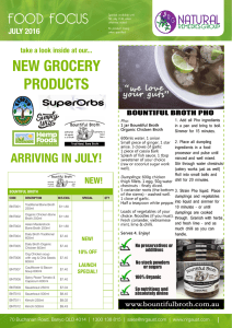 NEW GROCERY PRODUCTS