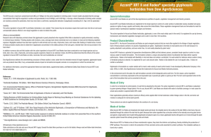 Accord® XRT II and Rodeo® specialty glyphosate herbicides from