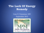 The Lack of Energy Remedy