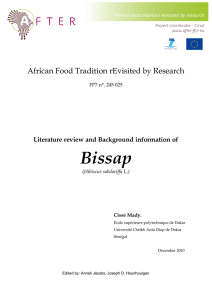 Literature review of Bissap