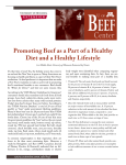 Promoting Beef as a Part of a Healthy