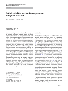 Stenotrophomonas Antimicrobial therapy for maltophilia infections REVIEW