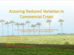 Assuring Reduced Variation in Commercial Crops