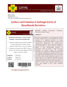 Synthesis and Evaluation of Antifungal Activity of Benzothiazole
