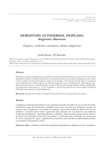 HEREDITARY ECTODERMAL DYSPLASIA