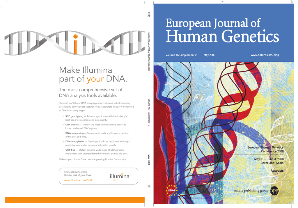 2008 Barcelona - European Society of Human Genetics