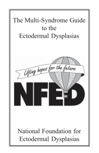 HED - National Foundation for Ectodermal Dysplasias