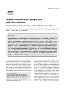Thyroid autoimmunity and polyglandular endocrine syndromes