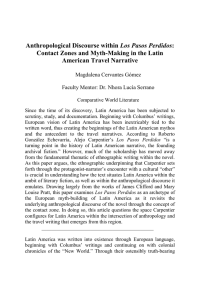 Anthropological Discourse within Los Pasos Perdidos: Contact