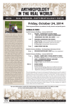Anthropology in the reAl world Friday, October 24, 2014 2014 — 3