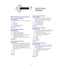 7 UTILITY AND DEMAND
