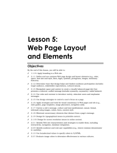 5Lesson 5: Web Page Layout and Elements