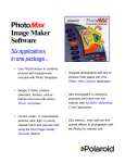 PhotoMax Image Maker Software Feature Sheet