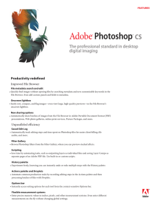 Adobe Photoshop CS Overview