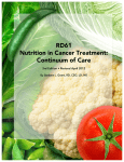 RD61 Nutrition in Cancer Treatment