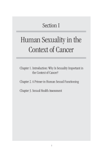 Human Sexuality in the Context of Cancer