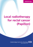 Local radiotherapy for rectal cancer (Papillon)