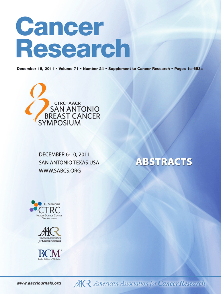 Cancer Research Aacrjournalsorg December 15 2011 Volume 71 Peachykeenamh 6 Years Ago Reply Number 24