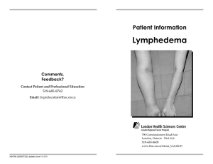 Lymphedema Patient Information Comments,