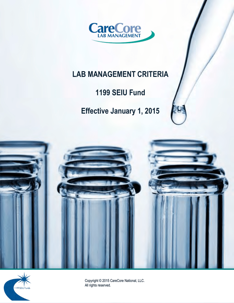 Clinical Policy Manual – Effective January 2015