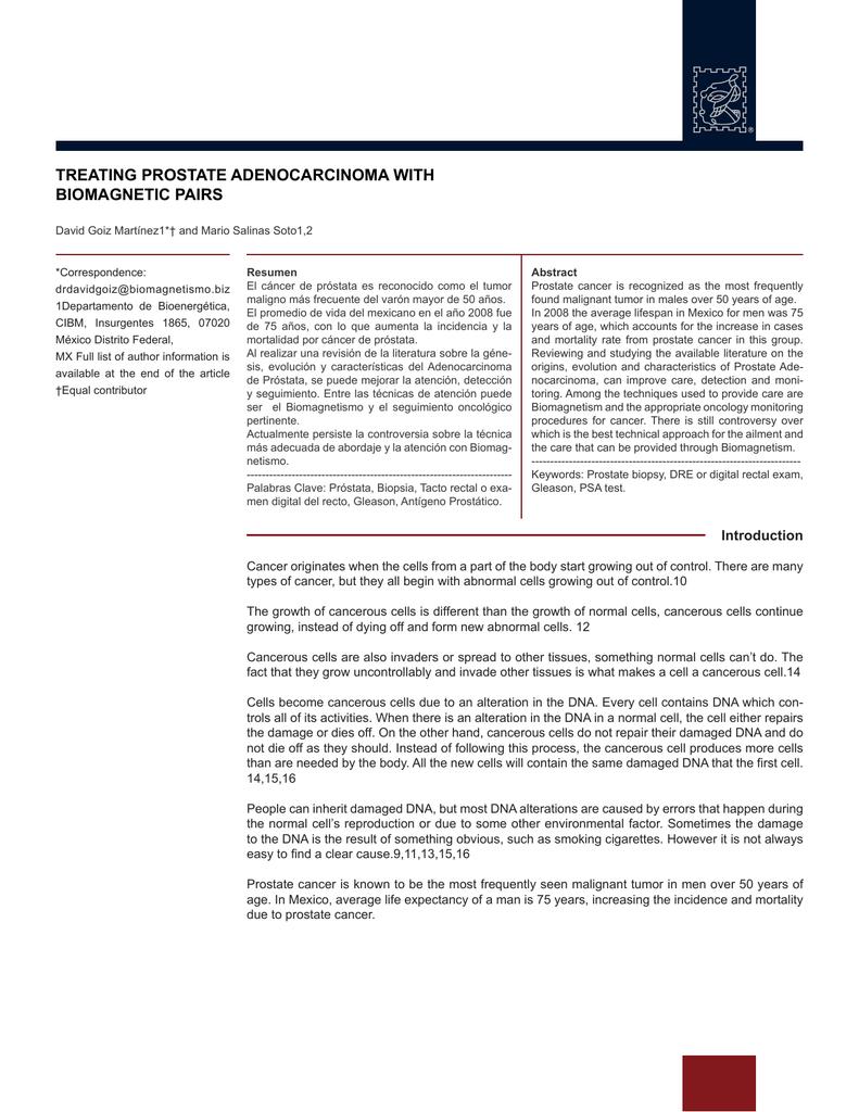 adenocarcinoma prostatico acinar gleason 7 3