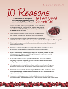 to Love Dried Cranberries