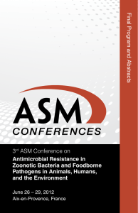 3rd ASM Conference on Antimicrobial Resistance in
