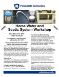 Home Water and Septic System Workshop