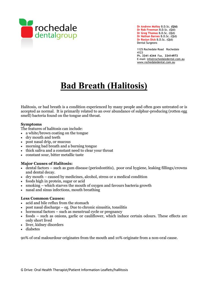 Bad Breath (Halitosis) - Rochedale Dental Group