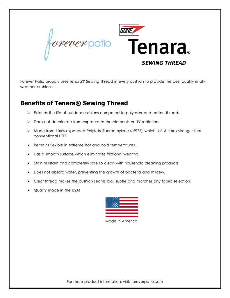 Benefits of Tenara® Sewing Thread
