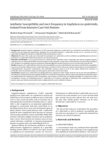 Antibiotic Susceptibility and mecAFrequency in Staphylococcus