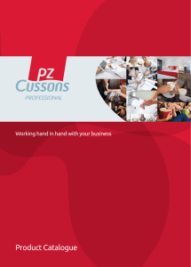 Product Catalogue - PZ Cussons Professional