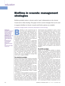 Biofilms in wounds: management strategies