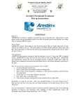 Arestin® Periodontal Treatment Post-op Instructions