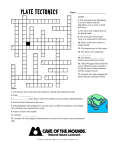 Plate Tectonics Crossword