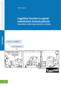 Cognitive function in opioid substitution treated patients