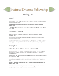 Reading List - Natural Dharma Fellowship