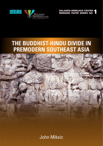 The Buddhist-Hindu Divide in Premodern Southeast Asia