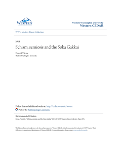 Schism, semiosis and the Soka Gakkai