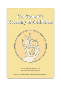 The Seeker`s Glossary of Buddhism